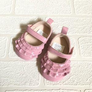 FREE (w Shoe Purchase) Pink Ruffle Baby Shoe